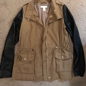 Brown and leather sleeves jackets